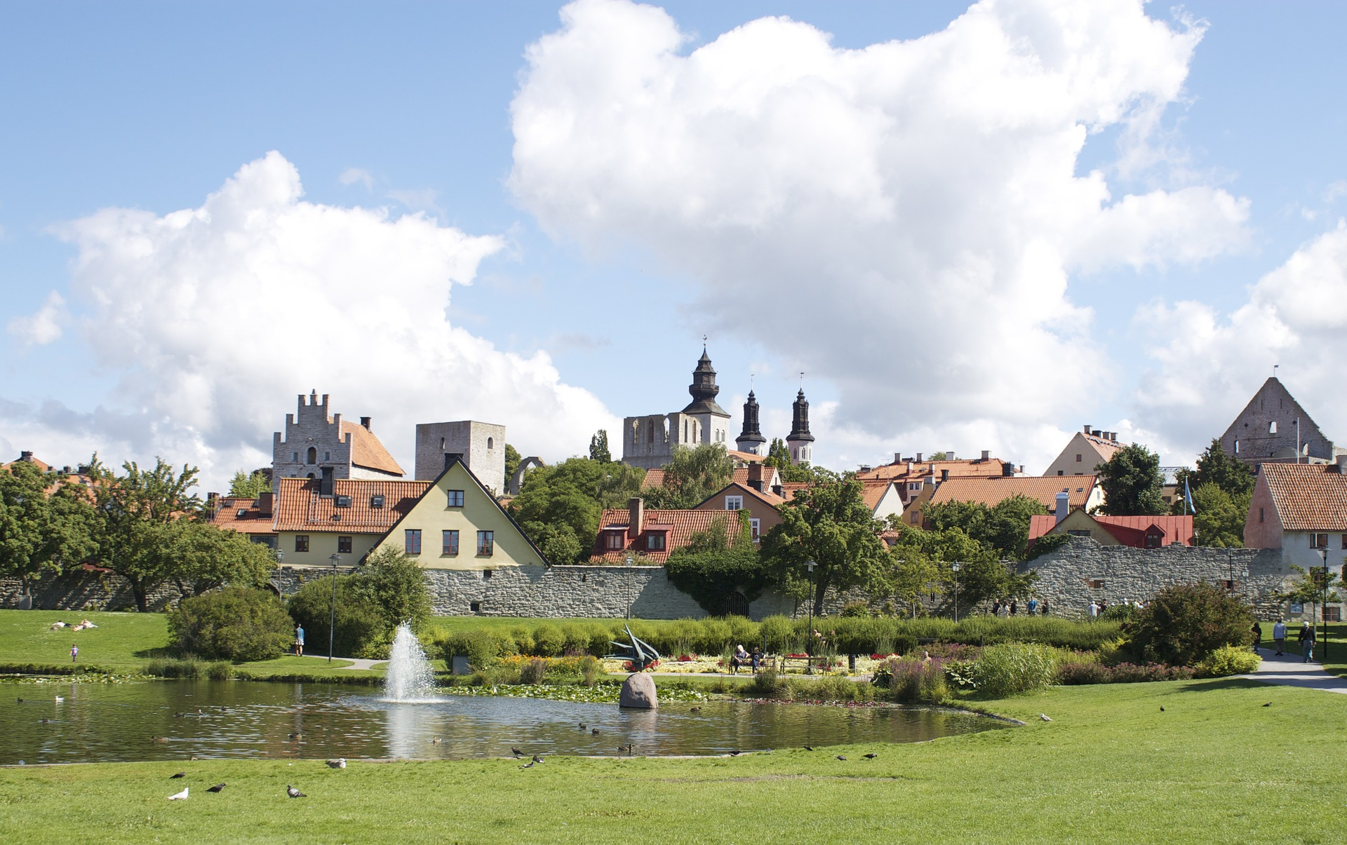Scenic Picture of Visby, Sweden