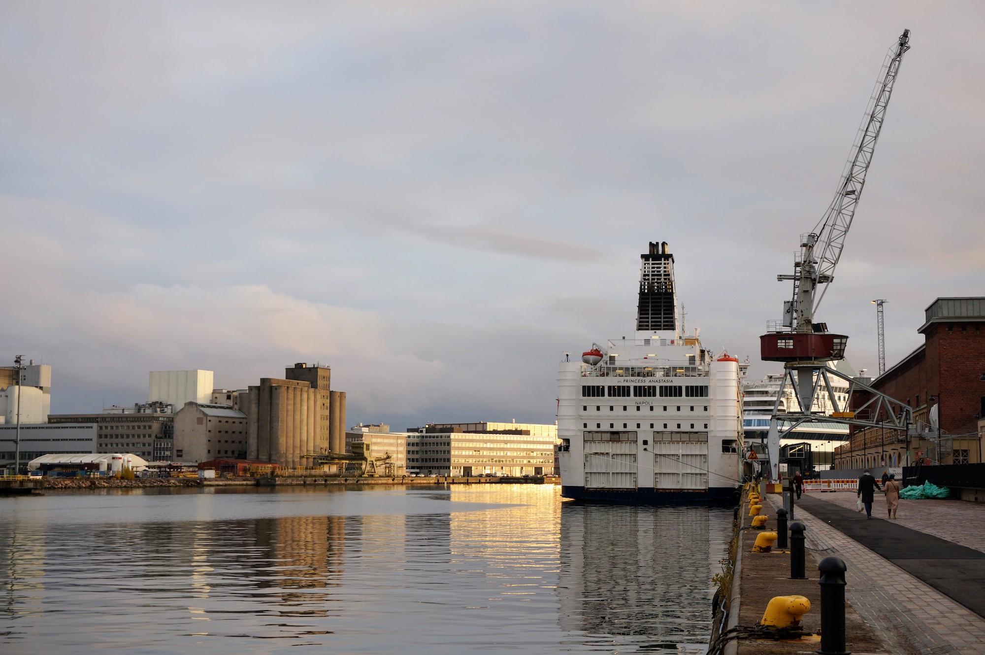 M/S Princess Anastasia at Helsinki West Harbor T1