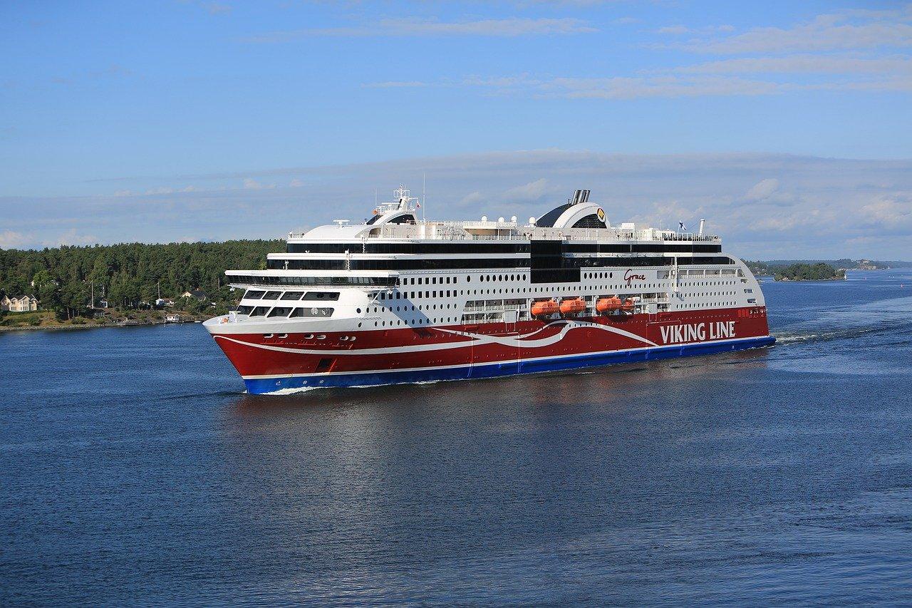 M/S Viking Grace ship on her way to Turku via the Åland Islands.
